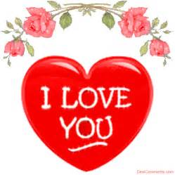 I Love You Glitter Graphics Hearts