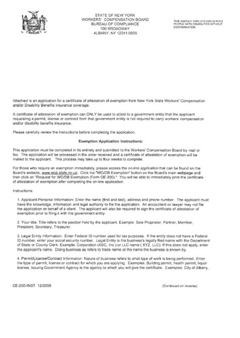 fillable form ce  inst application  certificate
