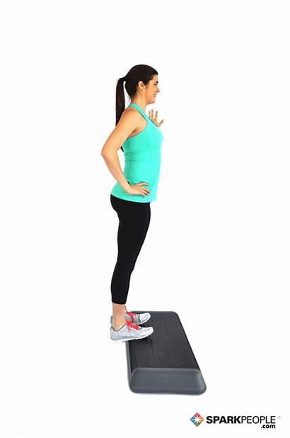 Calf Raises Step Exercise Exercises Sparkpeople Raise
