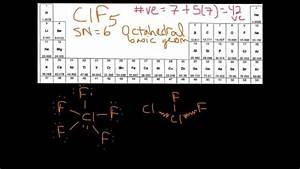 VSEPR Molecular Geometry Example 2 (ClF5) - YouTube