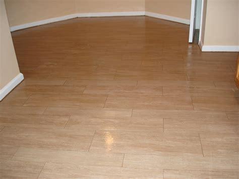 wood tile kitchen floor  jersey custom tile