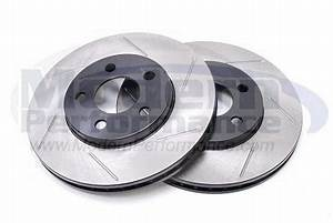 StopTech Slotted Rotors Front Pair 00 05 Neon Brakes
