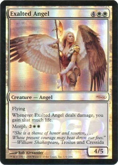 exalted angel judge foil promo cards magic the gathering