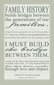 importance of f... Family Genealogy Quotes