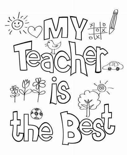 Teacher Coloring Appreciation Week Thank Printable Quotes