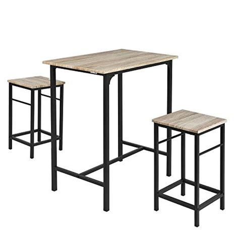 table haute de cuisine et tabouret sobuy ogt10 n set de 1 table 2 tabourets ensemble table