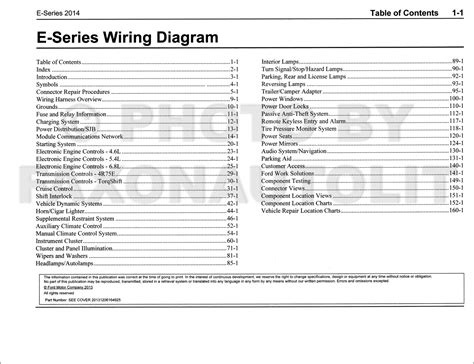 Ford Econoline Wiring Diagram Manual Original Van