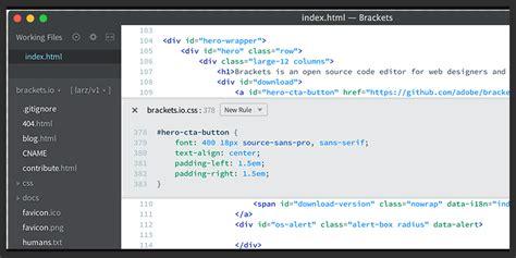 open source web design brackets io web design open source text editor