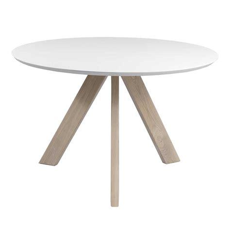 runder tisch nastoria in wei 223 eiche massivholz wohnen de - Runder Tisch Ikea