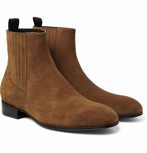 Balenciaga Suede Chelsea Boots in Blue for Men