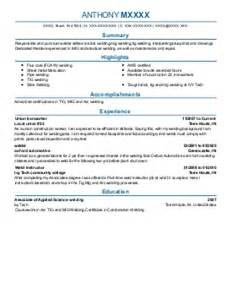 mig welding resume sles welders resume exles manufacturing and production resumes livecareer