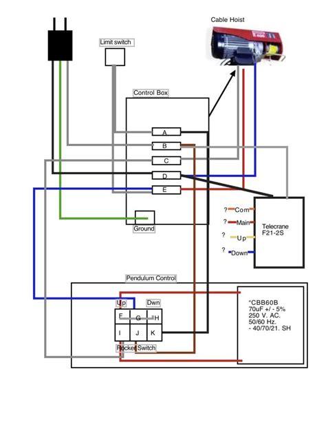 hoist pendant controls wiring diagram hoist pendant