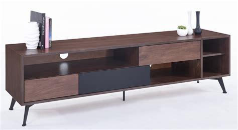 meuble tv bois massif marron 3 tiroirs kapa lestendances fr