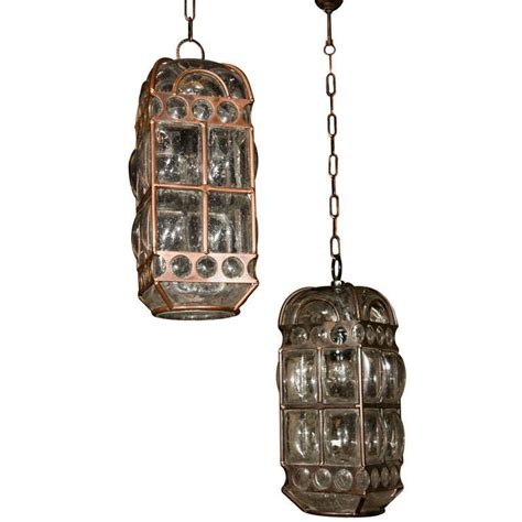 pair of italian blown glass pendant lights at 1stdibs