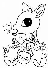 Rudolph Reindeer Coloring Nosed Nose Drawing Printable Colouring Sheets Ornament Lights Clipart Adult Cool Printables Rudolphs Tree Children Popular Liveitbeautiful sketch template