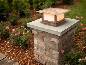 outdoor walkway lighting stone driveway pillars with With outdoor lights for driveway columns