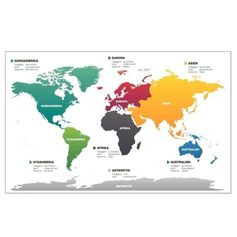Verdenskort med kontinenter - Skilteplade | EXAKT