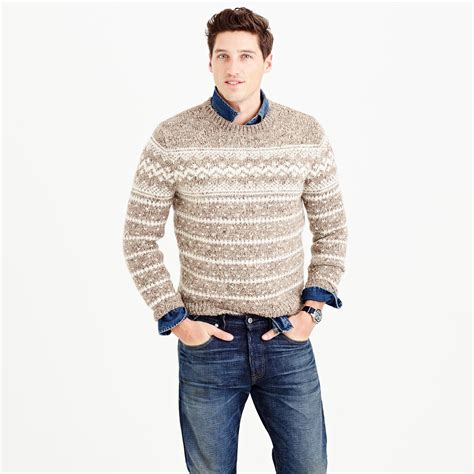 sweaters for j crew wool fair isle sweater in for lyst