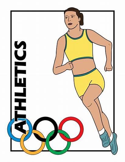 Athletics Clipart Event Clip Olympics Athletic Summer