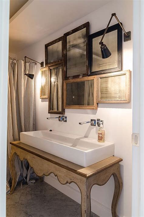 Scalloped Console Table  Makes For A Great Bathroom