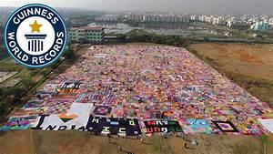 Largest Crochet Blanket - Guinness World Records - YouTube