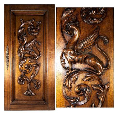 carved kitchen cabinet doors carved antique griffin cabinet door wall plaque 5130
