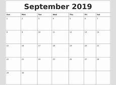October 2019 Free Calendar Download