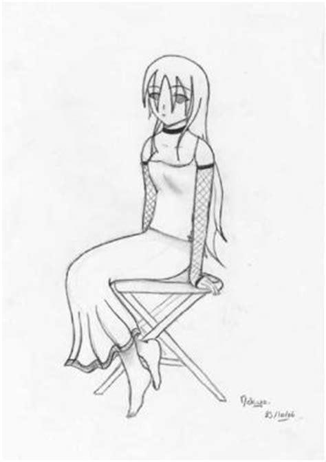 personne assise de dos fille assise dessins de minako