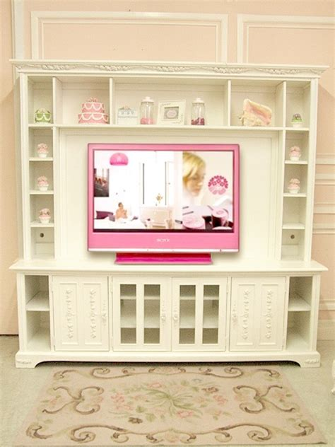 shabby chic tv shabby chic tv console media storage wall unit paint and details inside the home pinterest