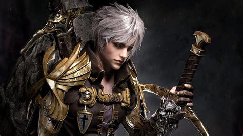 Download 1920x1080 Fantasy Boy, Warrior, Sword, White Hair ...