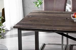 Table Bois Et Metal Salle Manger : table a manger metal et bois ~ Teatrodelosmanantiales.com Idées de Décoration