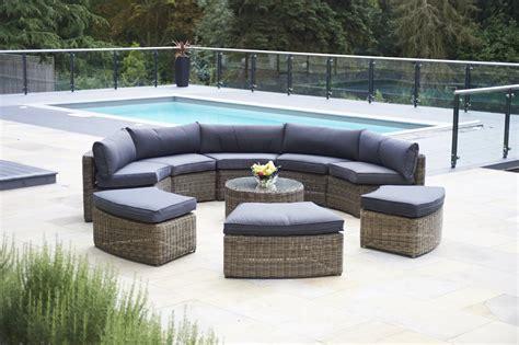 circular coffee table 9 mayfair curved modular rattan garden furniture set
