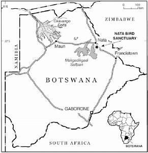 Location Of Case Study Of Nata Bird Sanctuary  Botswana