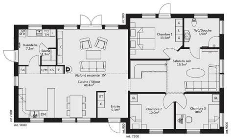 plan de maison plain pied 5 chambres catalogue plain pied scandinavia 9