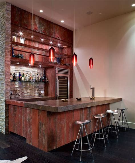 Home Bar by How To Set Out A Funky Home Bar
