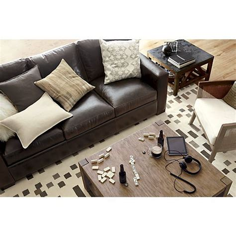 mesmerizing axis leather sofa crate and barrel in home