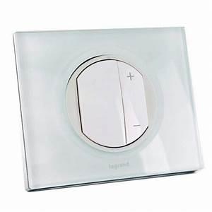 Interrupteur Variateur De Lumiere : legrand ecovariateur led enjo blanc plaque verre kaolin ~ Farleysfitness.com Idées de Décoration