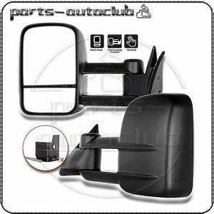 1988 Gmc C  K 1500 2500 3500 Truck Manual Towing Side Mirrors Pair Set 606462283694