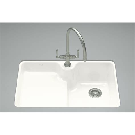 lowes cast iron sink shop kohler carrizo 22 in x 33 in white single basin cast