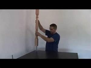 Comment Fixer Un Poteau Bois Au Sol : fixer un poteau tourn en bois au sol youtube ~ Dailycaller-alerts.com Idées de Décoration