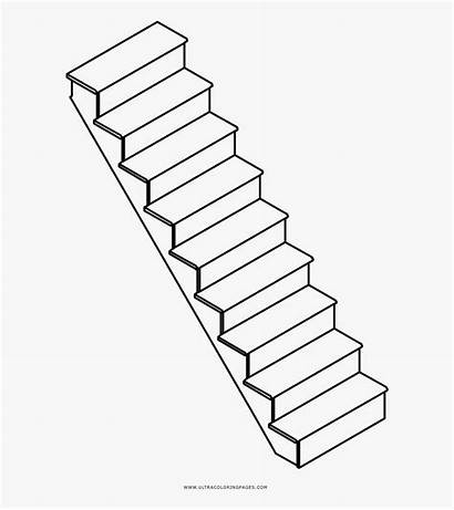 Stairs Clipart Drawing Staircase Line Scale Transparent