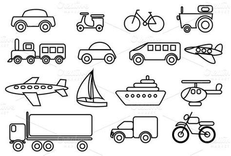 check  transportation vector clip art set  amey