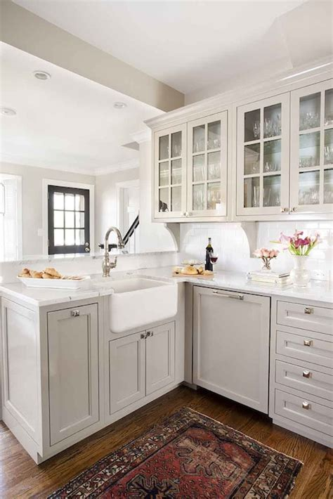 12 Gorgeous and Bright Light Gray Kitchens   Table and Hearth
