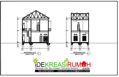 desain rumah  lantai minimalis kecil ukuran    meter