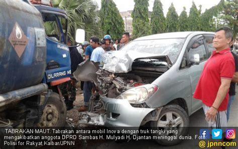 kecelakaan maut mobil  tangki anggota dewan meninggal