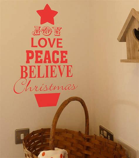 christmas tree decorationquotes tree quote wall sticker by all things brighton beautiful notonthehighstreet