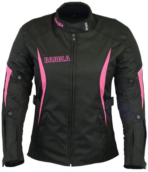 Motorradjacke Damen Textil Schwarz Pink S M L Xl Xxxl