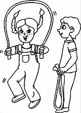 Coloring Rope Jump Pages Heart Skipping Clipart Jumping Clip Popular Library Coloringhome sketch template
