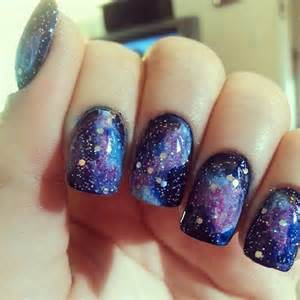 Galaxy nail images pictures becuo