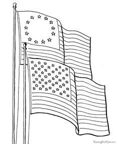American Flag Star Coloring Page - Coloring Pages For All ...